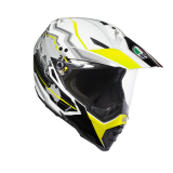 prilba AGV AX-8 Dual EVO EARTH WHITE/BLACK/YELLOW FL.