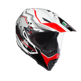 prilba AGV AX-8 Dual EVO EARTH WHITE/BLACK/RED