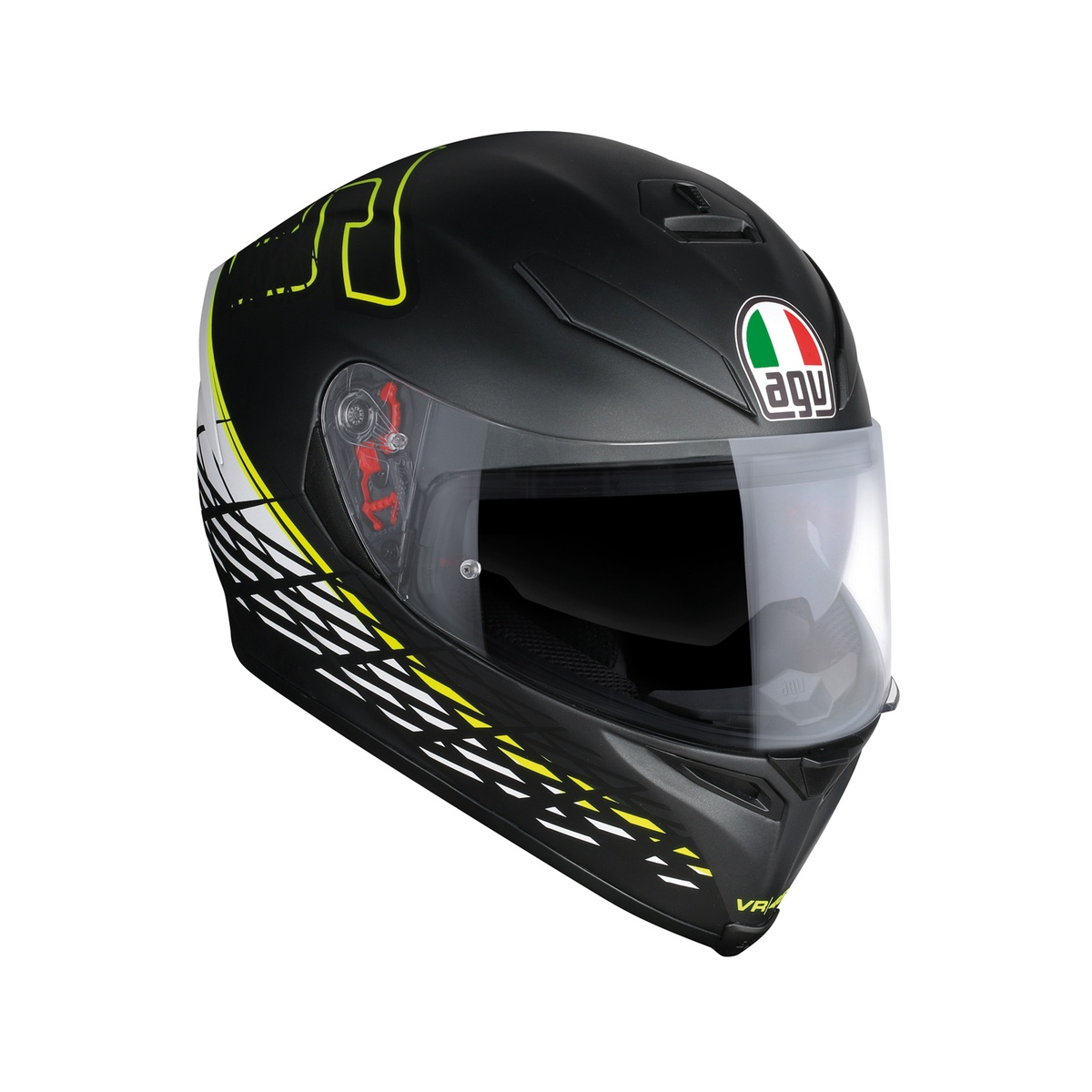 prilba AGV K5 S THORN 46 Matt Black/White/Yellow