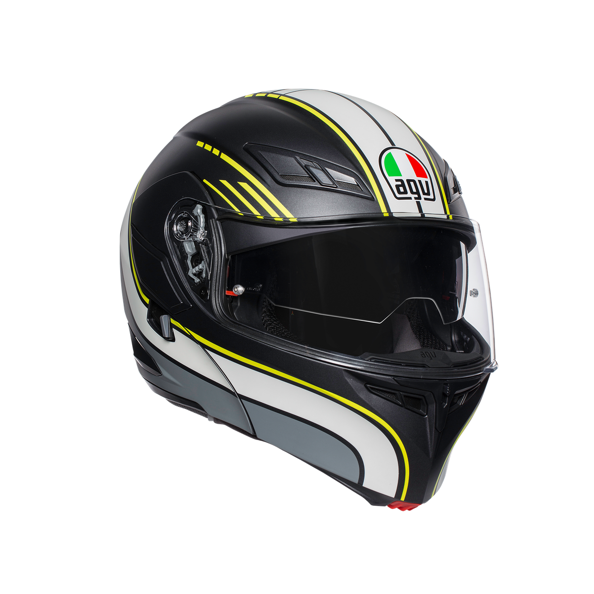 prilba AGV Compact BOSTON MATT BLACK/GREY/YELLOW