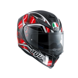 prilba AGV K5 S Hurricane Black/Red/White