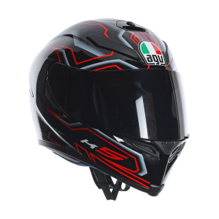 prilba AGV K5 Deep Black/White/Red