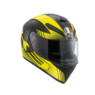 prilba AGV K3 SV Glimpse Black Metal/Yellow