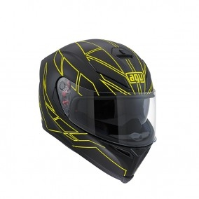 prilba AGV K5 S HERO Black/Yelow Fluo