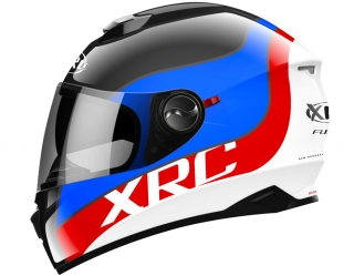 prilba XRC 965016 FUSE white/black/blue/red