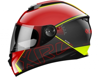prilba XRC 965012 BEYOND RACE black/red/fluo