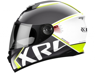prilba XRC 965011 BEYOND RACE black/white/fluo