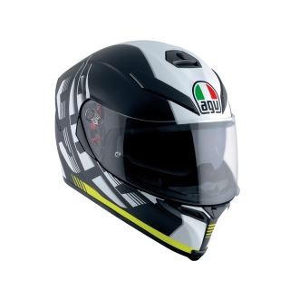 prilba AGV K5 S DARKSTORM Matt Black/Yellow