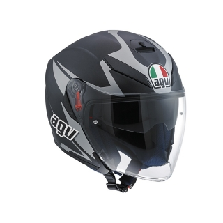 prilba AGV K-5 JET ThreeSixty Matt Black/Grey