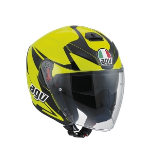 prilba AGV K-5 JET ThreeSixty Yellow Fluo/Black