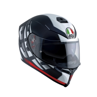 prilba AGV K5 S DARKSTORM MATT BLACK/RED