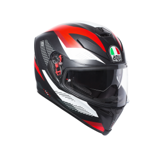 prilba AGV K5 S  MARBLE MATT BLACK/WHITE/RED