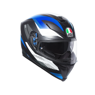 prilba AGV K5 S  MARBLE MATT BLACK/WHITE/BLUE