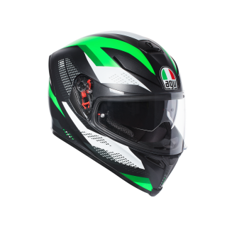 prilba AGV K5 S MARBLE MATT BLACK/WHITE/GREEN
