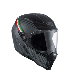 prilba AGV AX-8 NAKED CARBON BLACK FOREST MATT CARBON/GREY/ITALY