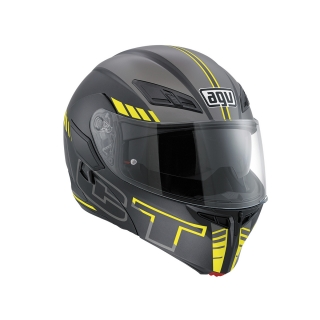 prilba AGV Compact ST SEATTLE MATT BLACK/SILVER/YELLOW FLUO