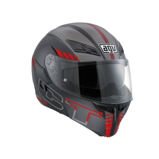 prilba AGV Compact ST SEATTLE MATT BLACK/SILVER/RED
