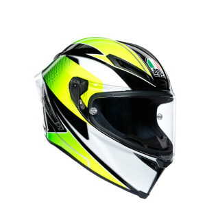 prilba AGV Corsa R SUPERSPORT Black/White/Lime