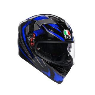 prilba AGV K5 S HURRICANE 2.0 BLACK/BLUE
