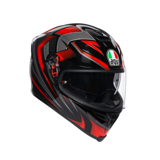 prilba AGV K5 S HURRICANE 2.0 BLACK/RED