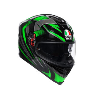 prilba AGV K5 S HURRICANE 2.0 BLACK/GREEN