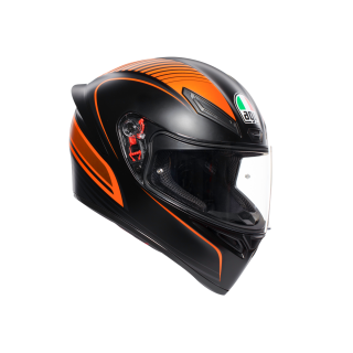 prilba AGV K1 WARMUP MATT BLACK/ORANGE