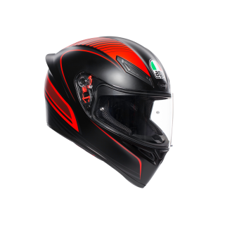 prilba AGV K1 WARMUP MATT BLACK/RED