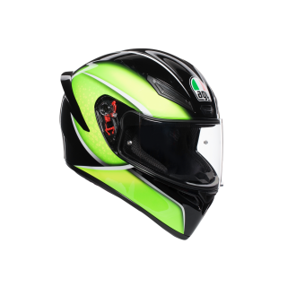 prilba AGV K1 QUALIFY BLACK/LIME