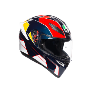prilba AGV K1 PITLANE BLUE/RED/YELLOW