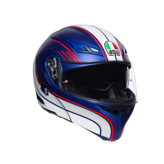 prilba AGV Compact BOSTON MATT BLUE/WHITE/RED