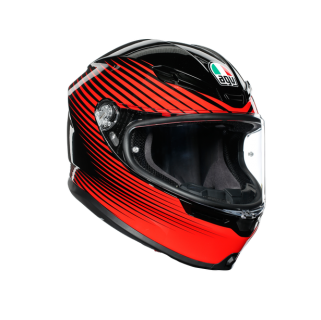 prilba AGV K6 RUSH Black/Red