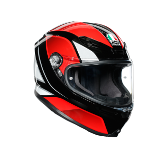 prilba AGV K6 HYPHEN Black/Red/White