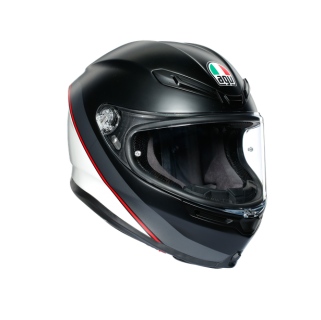 prilba AGV K6 MINIMAL PURE MATT Black/White/Red