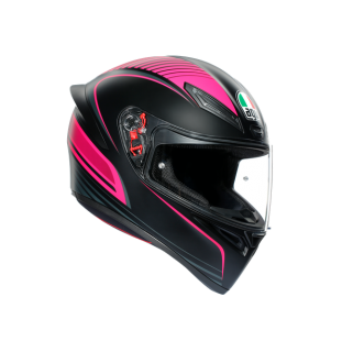 prilba AGV K1 WARMUP MATT BLACK/PINK
