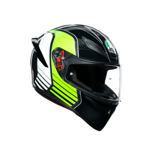 prilba AGV K1 POWER GUNMETAL/WHITE/GREEN