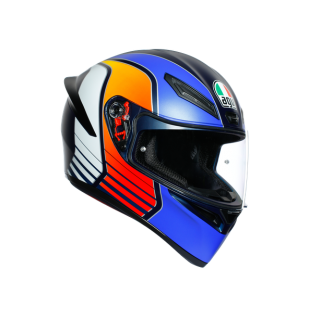 prilba AGV K1 POWER MATT DARK BLUE/ORANGE/WHITE