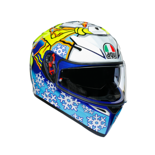 prilba AGV K3 SV ROSSI WINTER TEST 2016